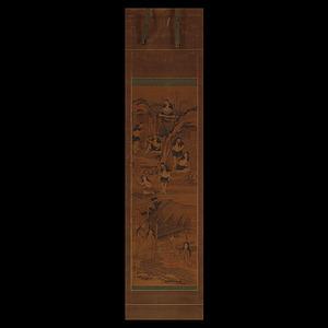 歌川国宗・長文斎 肉筆 神世七代之図