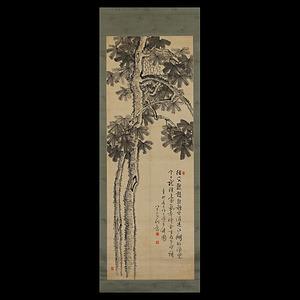 平野五岳 梧桐図 絖本