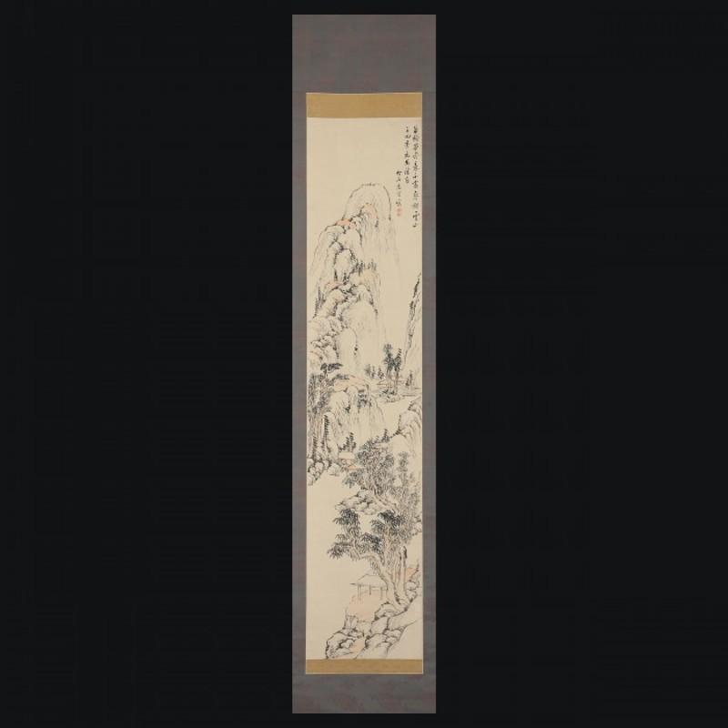 野呂介石 秋景山水図