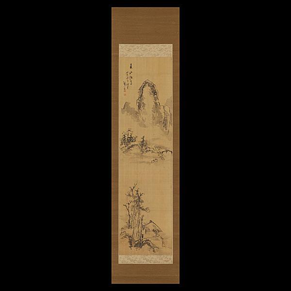 鉄翁祖門 水墨山水図 | 古美術品・中国書画の買取・査定や掛軸の通販の ...